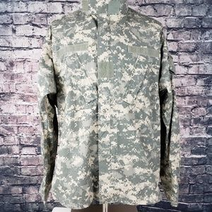 US Army Shirts - US Military Full Zip Over Shirt, Large